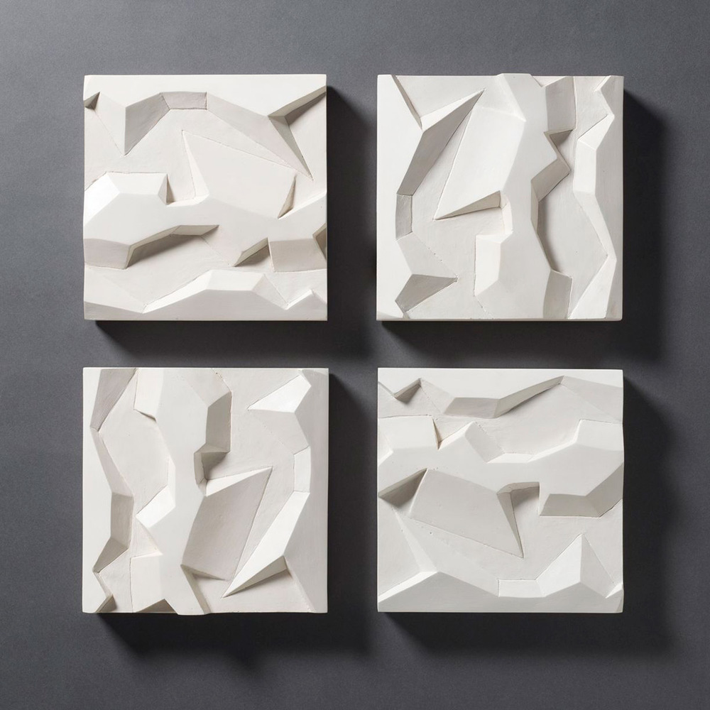 Untitled Wall Reliefs – 2014 – 22 x 22 – Cast Hydrocal -  inquire