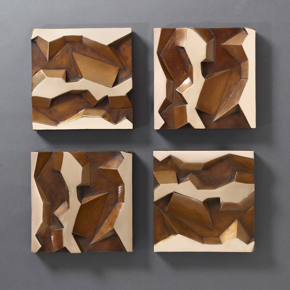 Untitled Wall Reliefs – 2014 – 22 x 22 – Cast Bronze