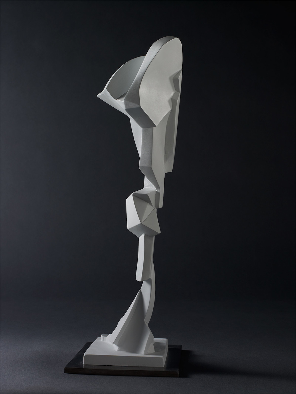 "Homage to Stephen DeStaebler – 2006 – 21 x 7 x 9 – Cast Bronze and Stainless Steel - <a href=""mailto:judbergeron@mac.com?subject=Inquire: Homage to Stephen DeStaebler"">Inquire</a>"