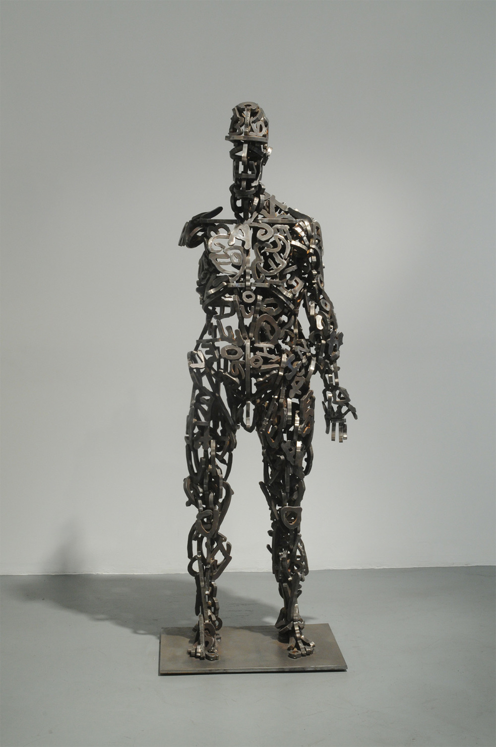 "An Incomplete Life – 2008 – 62 x 24 x 24 – Steel - <a href=""mailto:judbergeron@mac.com?subject=Inquire: An Incomplete Life – 2008 – 62 x 24 x 24 – Steel"">Inquire</a>"