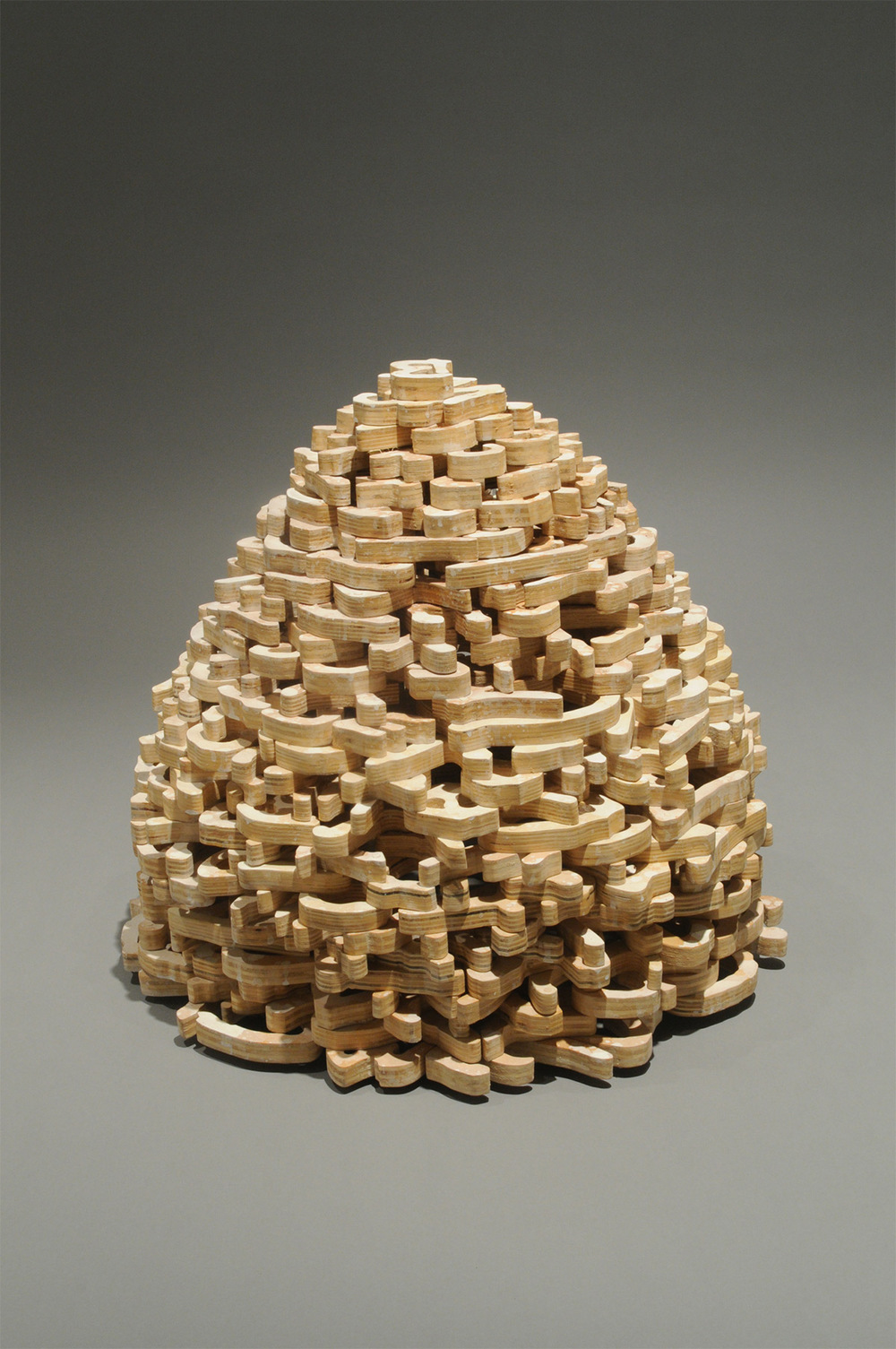 "Cairn – 2008 – 24 x 24 x 24 – Wood - <a href=""mailto:judbergeron@mac.com?subject=Inquire: Cairn – 2008 – 24 x 24 x 24 – Wood"">Inquire</a>"