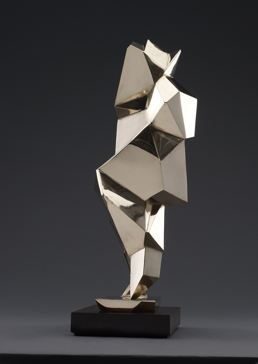 "The Crystalline Baby (Storey) – 2012 – 20 x 9 x 6 – High Polished Bronze - <a href=""mailto:judbergeron@mac.com?subject=Inquire: The Crystalline Baby (Storey) – 2012"">Inquire</a>"