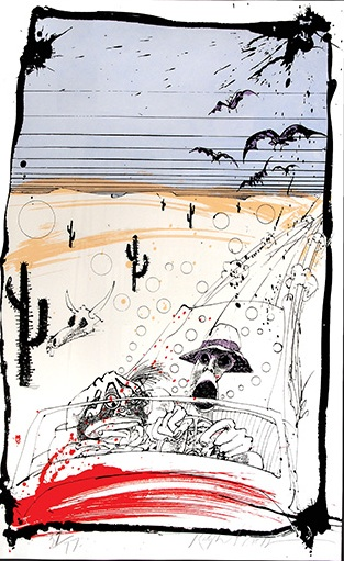 Bats Over Barstow by Ralph Steadman