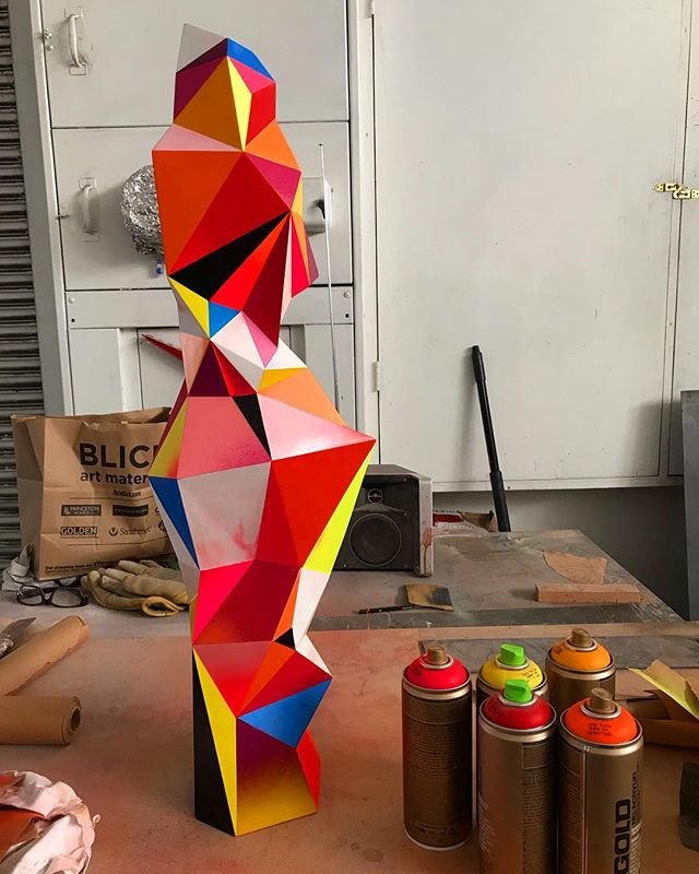 #wip #art #sculpture #color #studio #judbergeron #radiantspectrum #contemporaryart #painting #drawing #exhibition #love #artists #artcollector #museum @markmurphydesign