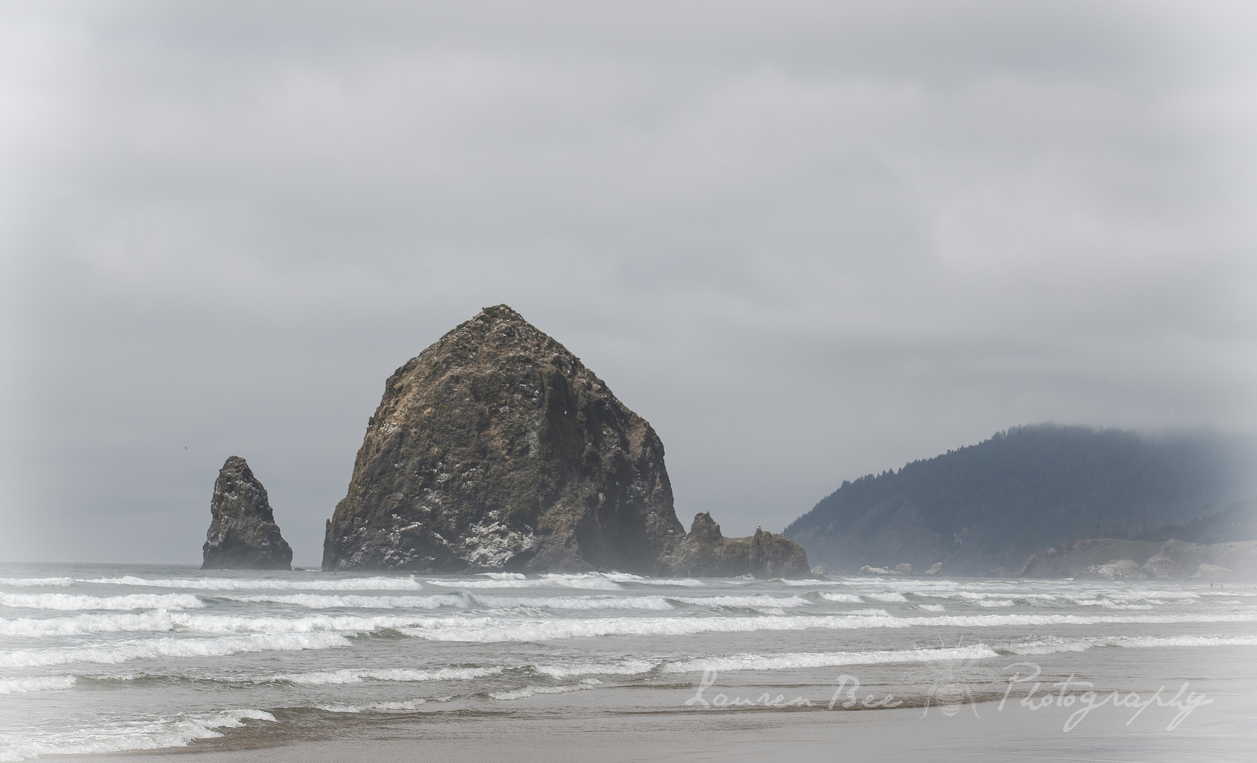 "Haystack Rock on Cannon Beach, OR -- also known as ""Goonies Rock"""
