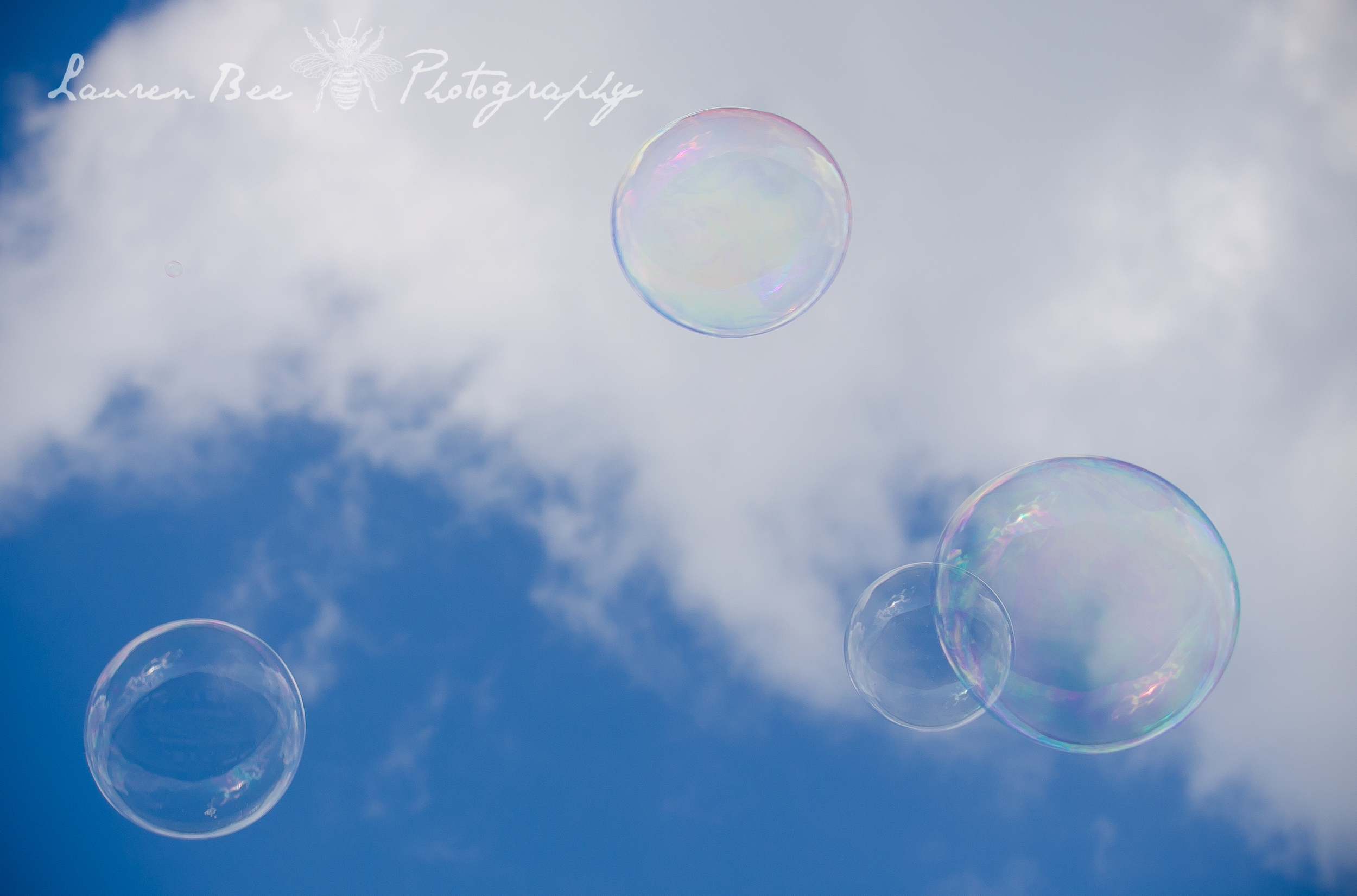 sky of bubbles