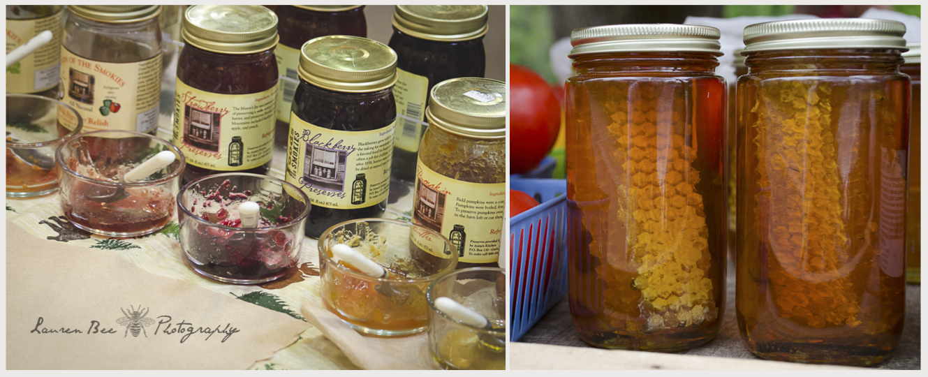 """J"" is for jellies  -- and wildflower honey."