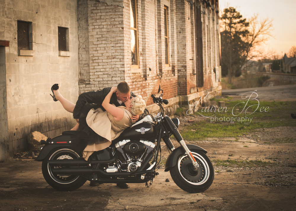 Huntsville Madison Harley Davidson Engagement Wedding Photographer.jpg