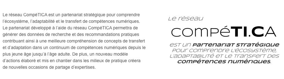 http://competi.ca/  Je fais aussi partie du réseau en tant que Consultante Spécialiste en Éducation et en intégration des technologies. Agora Mobile fait également partie du réseau comme partenaire.