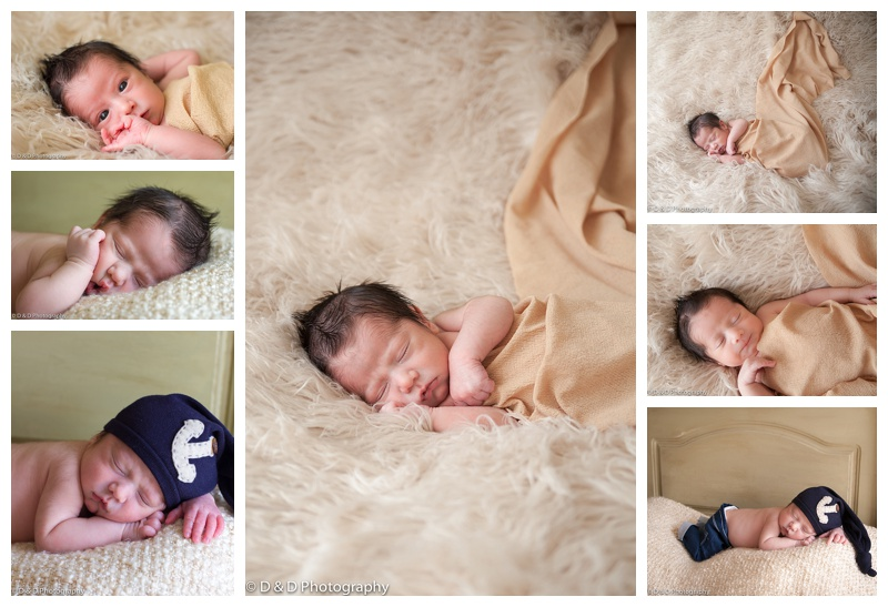 newborn photographer sleeping boy