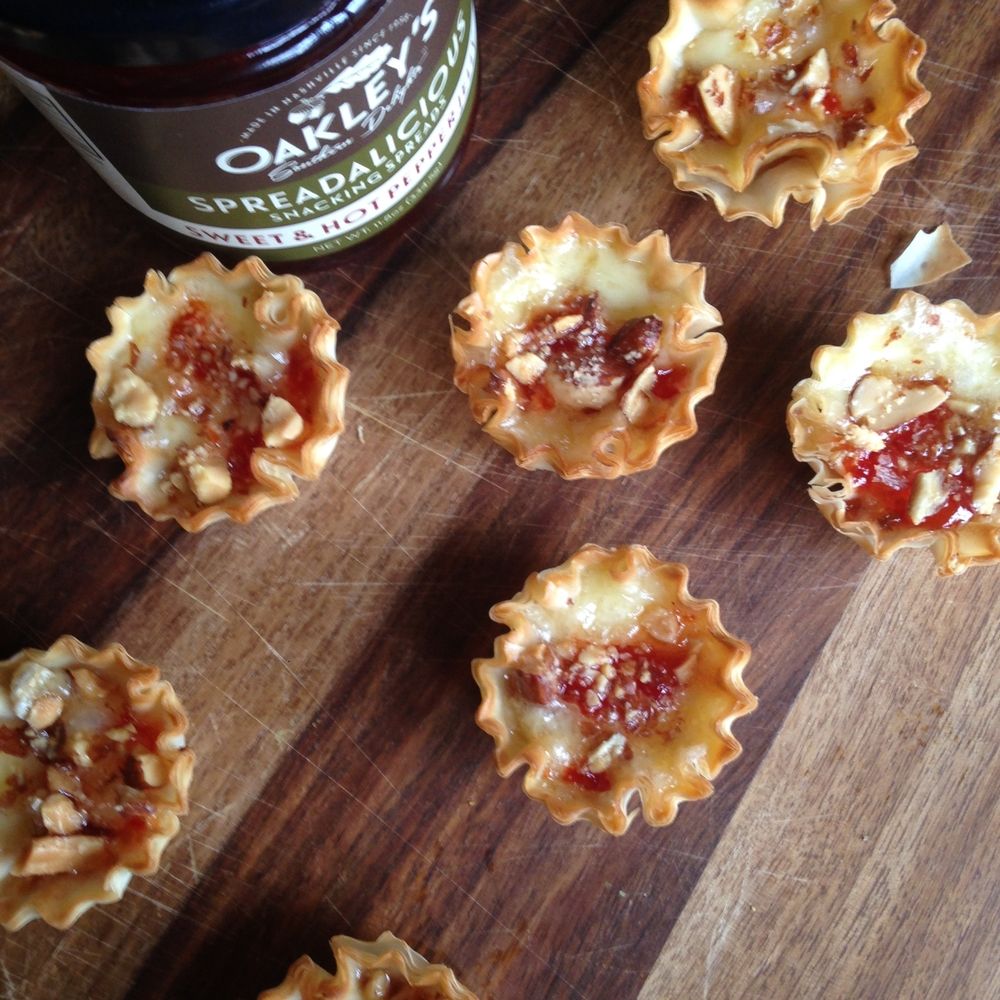 Mini Phyllo Red Pepper Jelly Pastries
