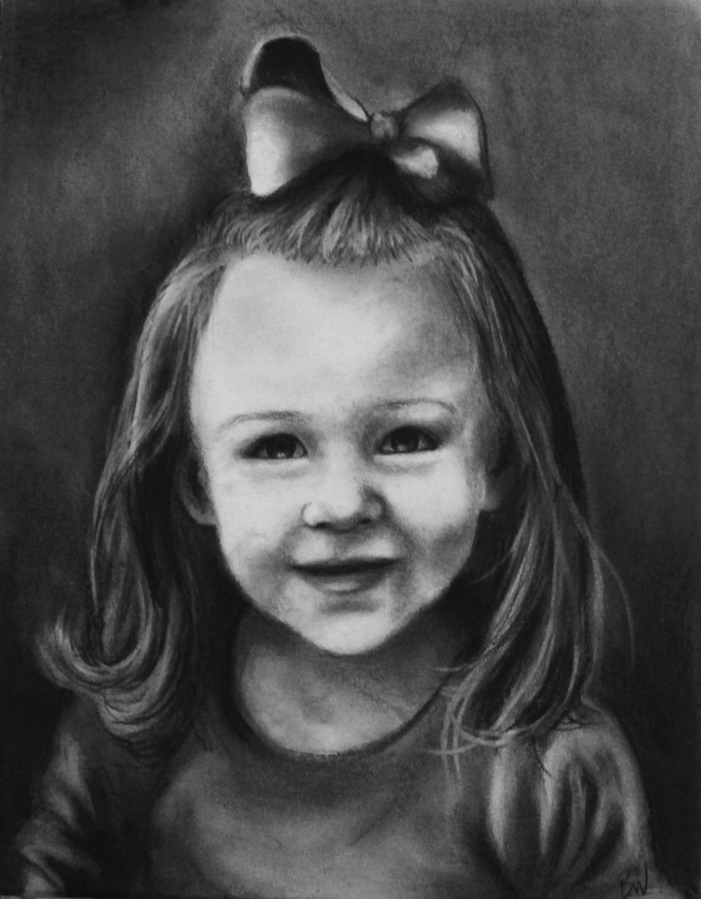"Charcoal on Paper  11"" x 14"""