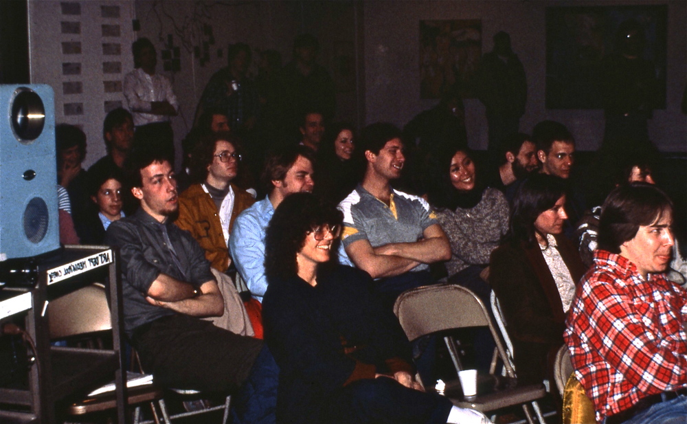 The audience at the opening  presentations, front and center is anthropologist Susan Montague.