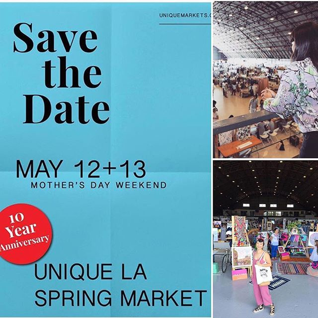We're excited to share that we'll be a part of the 10th Annual Unique LA Spring Market in May! ✨⭐️✨ If you're curious what are the most creative & unique LA brands have been up to, join us on May 12 & 13 at the California Market Center. At the #uniquela Market you'll discover one-of-a-kind goods, and celebrate local design! #shoplocal #supportsmallbusinesses [📸 above by: @uniquemarkets, @sonjarasula, and @miinlalaland]  #10yearsofunique  #livingunique  #la • Get your Tickets 🎟: https://www.eventbrite.com/e/2018-unique-la-spring-market-tickets-43220592957
