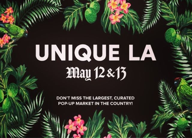 Gigantic 10-year-anniversery Unique LA Spring Market is just a few weeks away!  Come shop from over 250 independent designers, artists and  emerging brands! Tickets online now.  We'll see you all May 12 & 13 at the California Market Center in #DTLA! :: ::#uniqueLA #supportsmallbusiness #enterpreneurship #LA