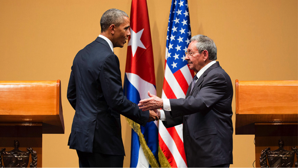 "obama tries to ""bury the last remnants of the cold war"" with cuba visit"