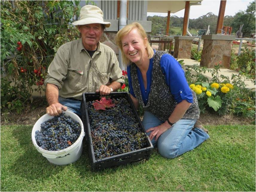 Les, our winemaker and Julianne, our Business Director