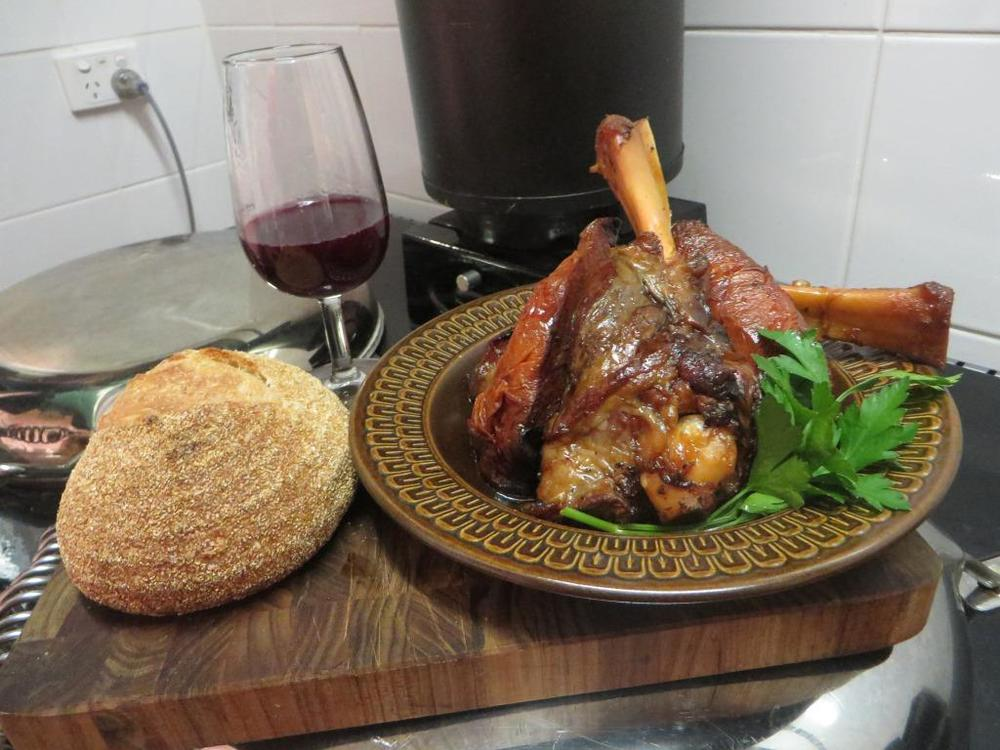 Lamb Shanks in a Merlot Sauce