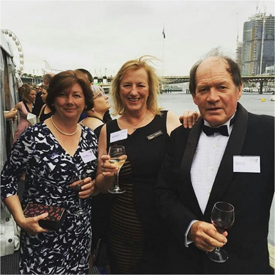 Julianne & Les (Business Director & Winemaker) at the academy awards themed night for the NSW Tourism Awards