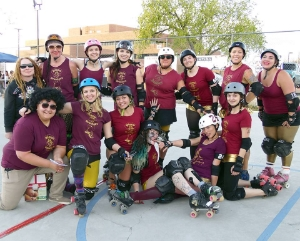 The Brawlers embrace the gold and crimson on game day. Photo by T'cha Mi'iko.