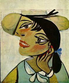 Portrait de femme au col d`hermine (Portrait of woman in d`hermine pass)  Pablo Picasso 1923