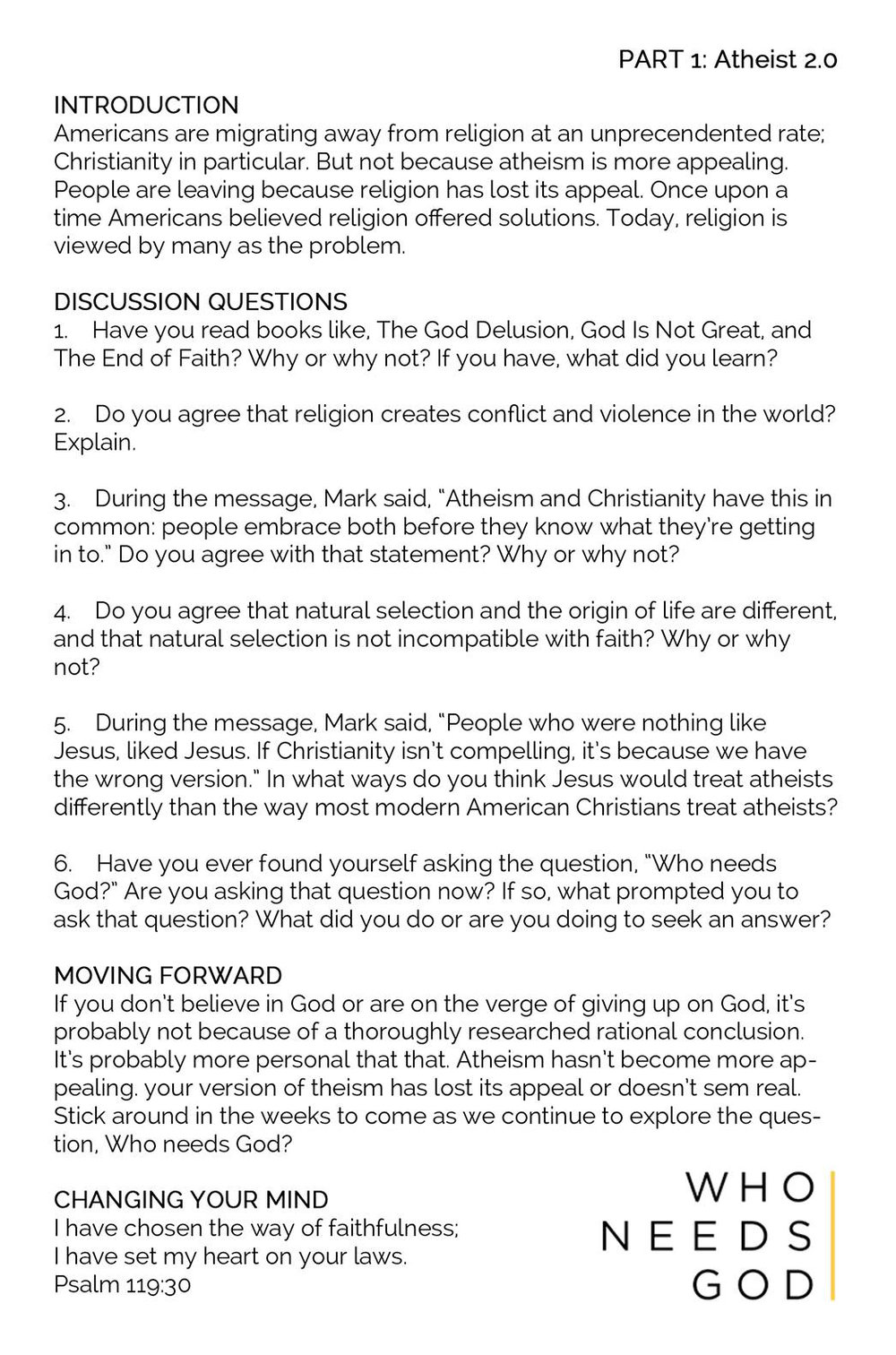 Religious questions to ask someone