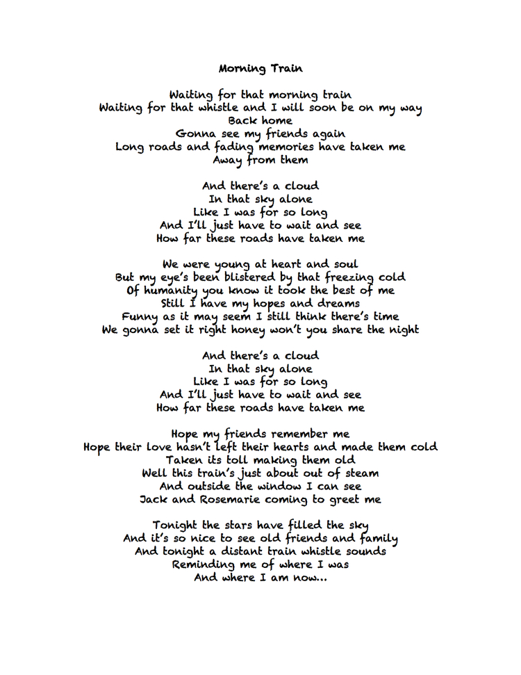 Lyrics with Music — Cheap Trouble