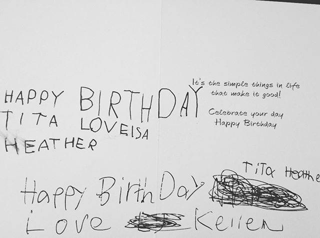 Birthday greetings from my niece and nephew! #thebest #lovelsa