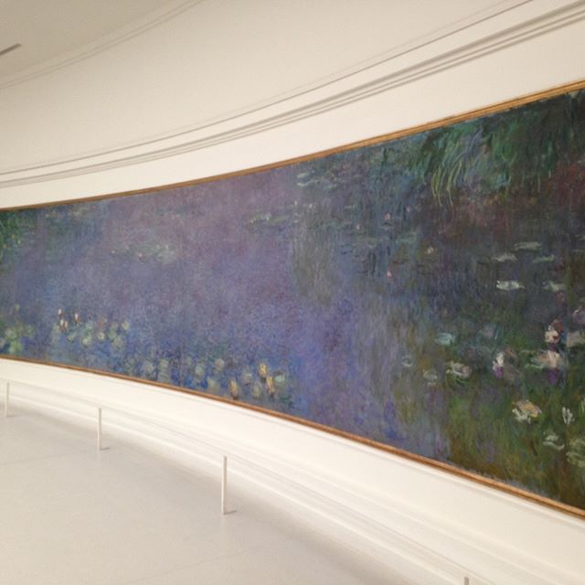 An ideal birthday...In Paris with Monet and @keithalanmitchell! #waterlilies #paris #orangeriemuseum