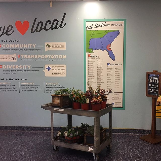 Doesn't get any more local than Bluebird! We are proud to now be featured at all 3 Native Sun locations. Support local! @nativesunjax