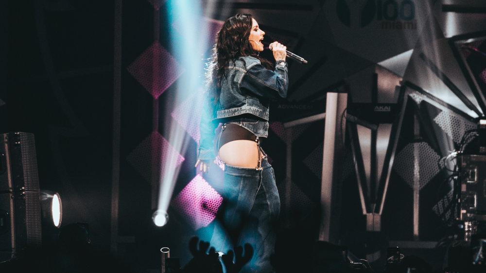Demi Lovato - iHeartRadio Jingle Ball - December 2017. © Alex Liscio.