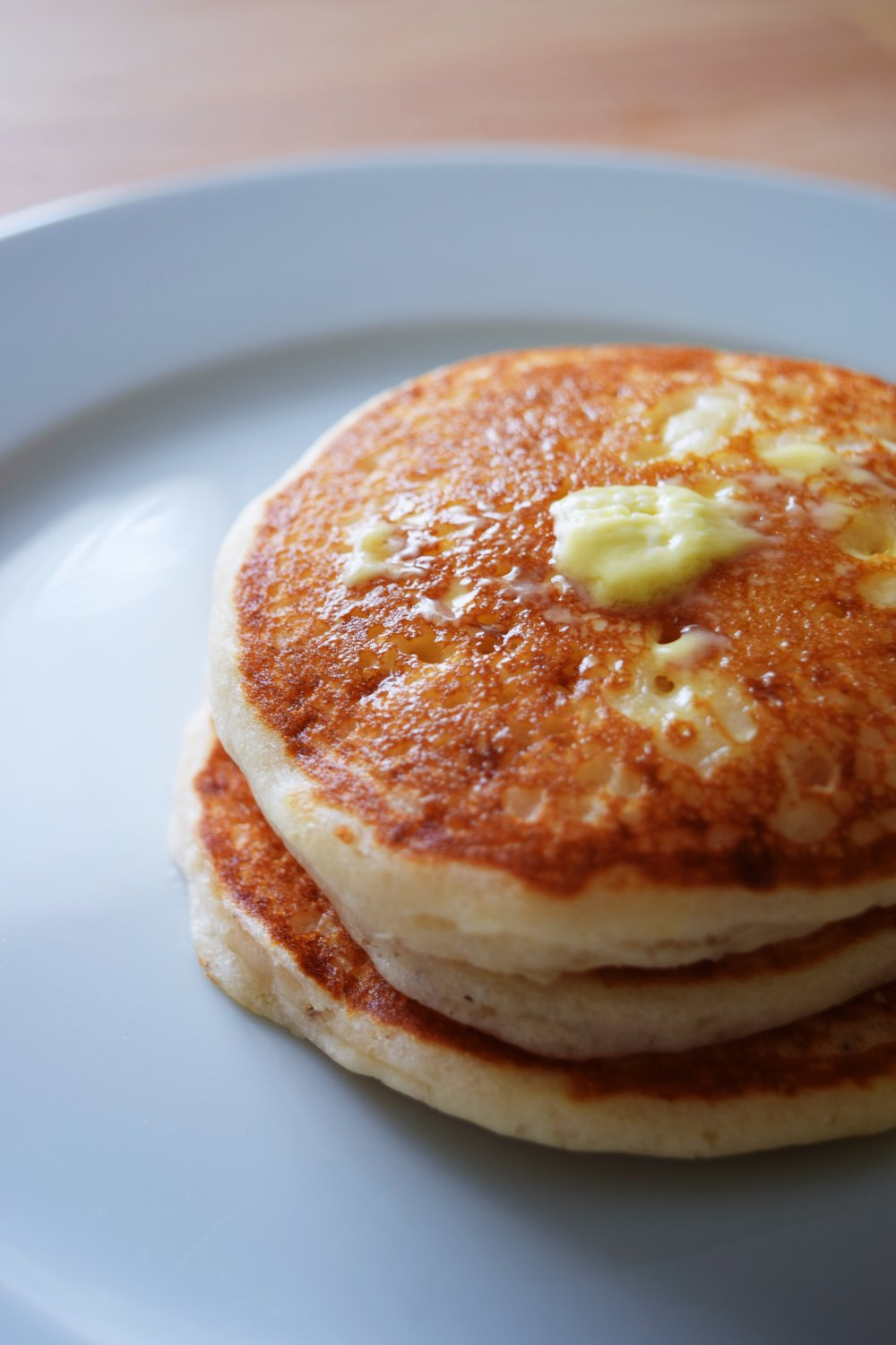 Homemade palm-oil free butter on pancakes