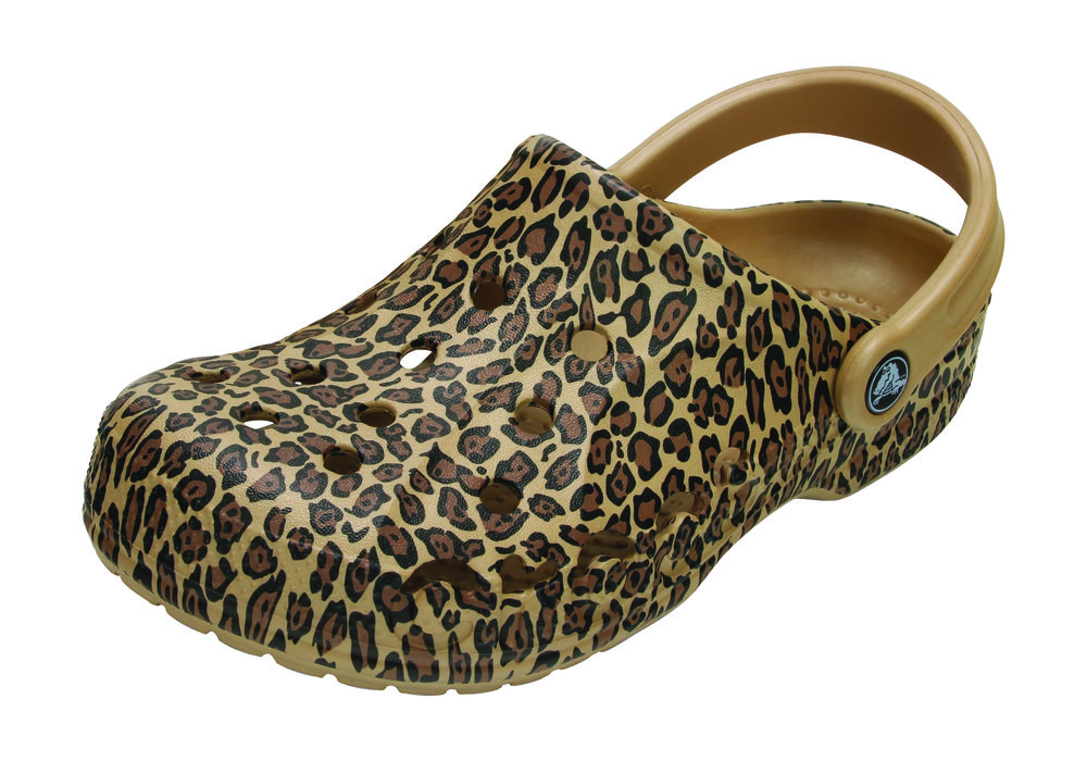 The Classic Leopard Print III Clog in Gold