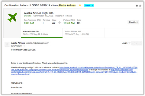 Gmail for Desktop Does Flights Right
