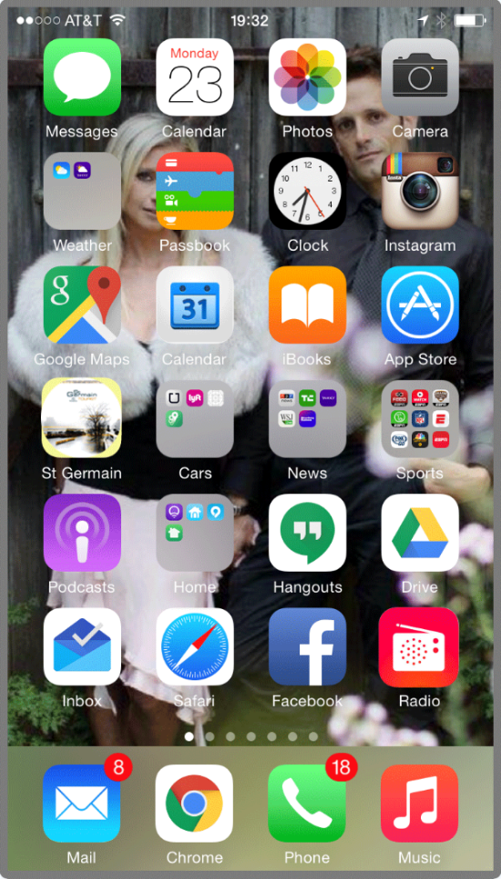iPhone Home with iTunes Radio and Station