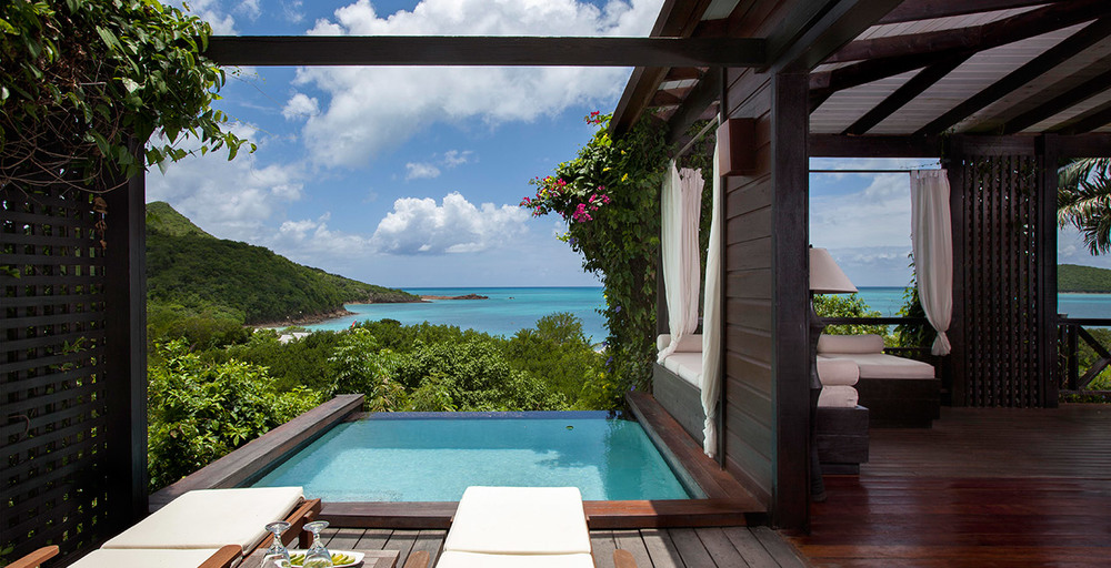Hermitage Bay, Antigua:  A luxury, 5-star boutique hotel, with only 25 individual suites, set in stunning locations.