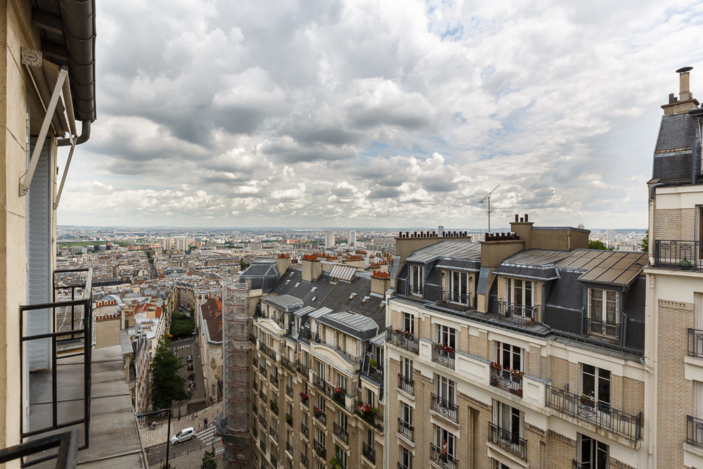The beautiful view from an apartment you can rent in Paris!