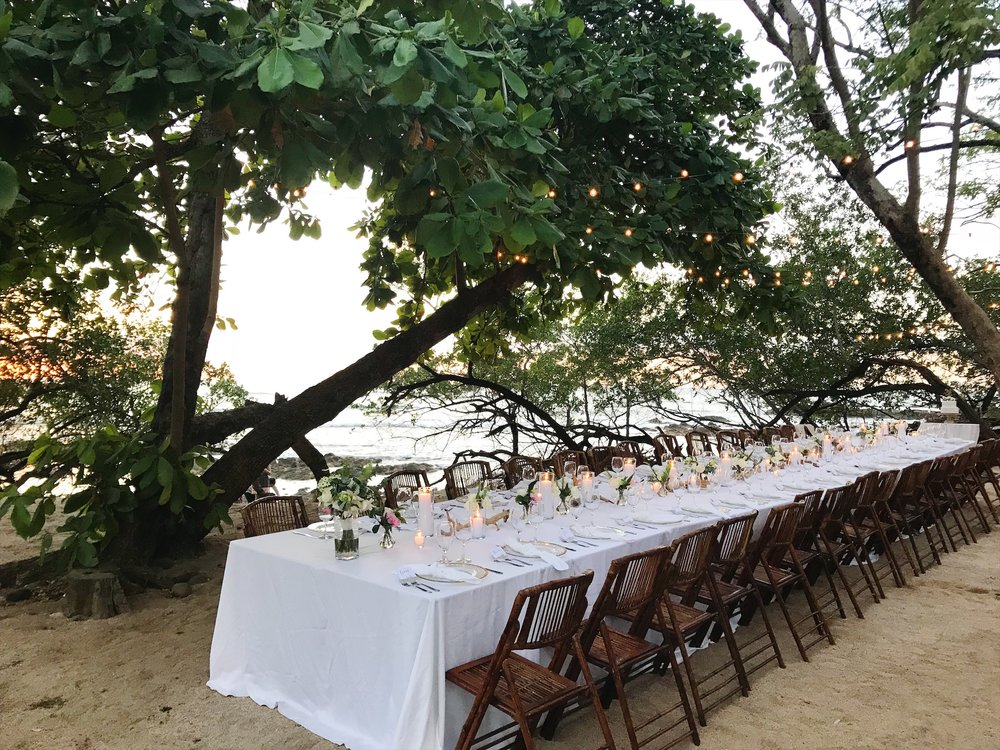 beachfront wedding in Costa Rica Playa Langosta