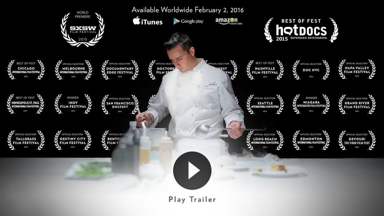 For Grace - A documentary about Curtis Duffy and Grace Restaurant. '