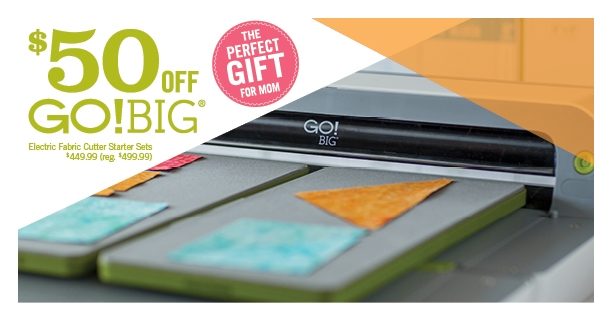 From April 24-30, Save $50 on the GO! Big Electric Cutter Starter Set! -