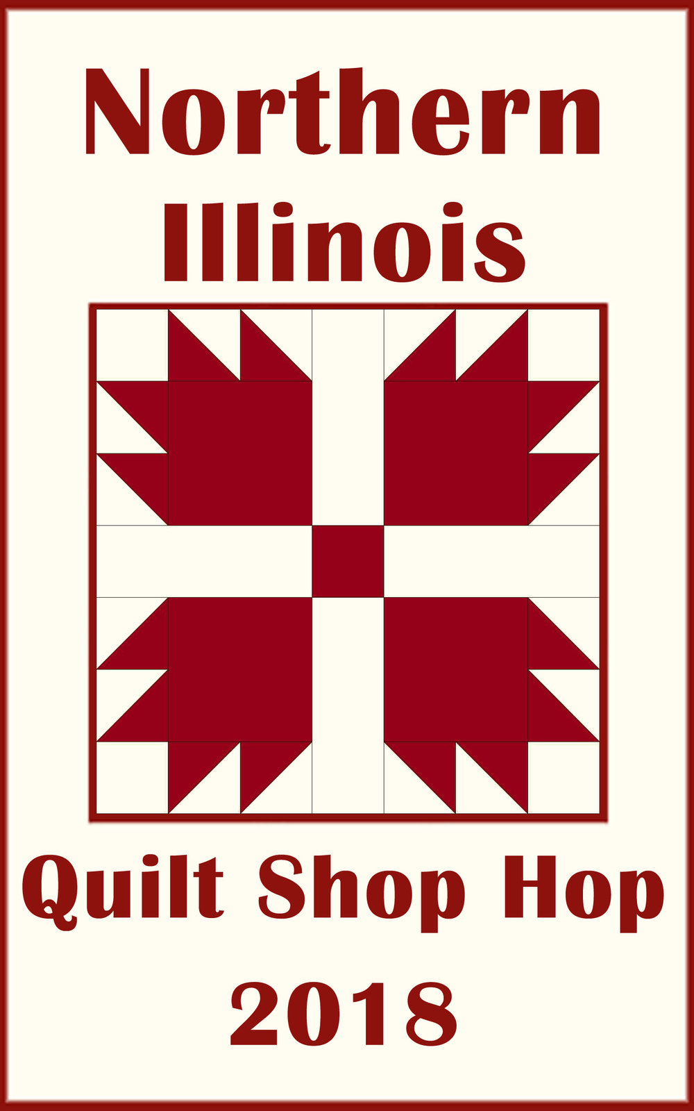 TQT is excited to be part of the Northern Illinois Quilt Shop Hop again. Thirty three of the best quilt shops in Illinois are participating. The Hop runs all summer - from June 1 - August 31.On the day you get your passport stamped, you will receive a 15% discount on regularly priced merchandise.Visit all 33 shops and be eligible to win the grand prize of a Quilting Cruise for you and a friend! There are also prizes for visiting the shops within one of three regions. TQT is in Region 3. Passports are available in the shop, or by clicking the link below. - --> Click here to visit the NIQSH website for more details.--> Click here to download your Region 3 passport.