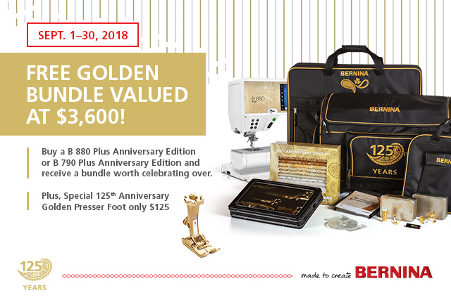 The GORGEOUS Anniversary Edition 880 Plus and 790 Plus are here! - Receive a fantastic Golden Bundle worth $3,600 with purchase of either machine in September!