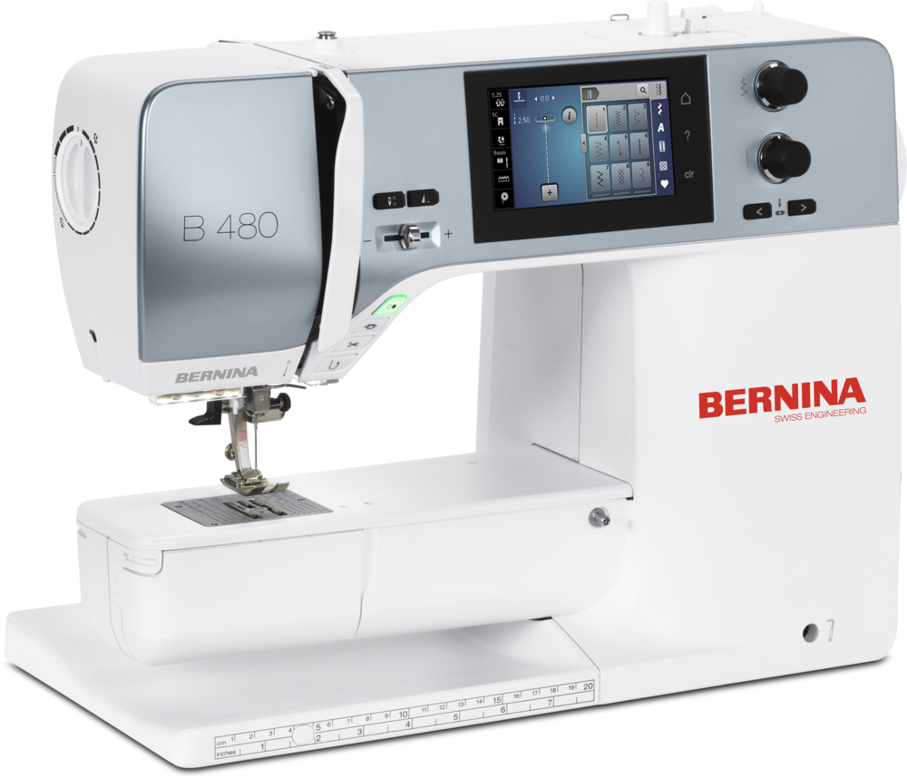 The New BERNINA 480 is in the house! - This new machine as so much to offer including the BIG bobbin, 9mm stitch width, 7