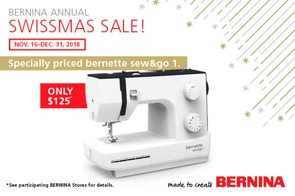 The bernette sew&go 1 for a special price of just $125. - A great gift!