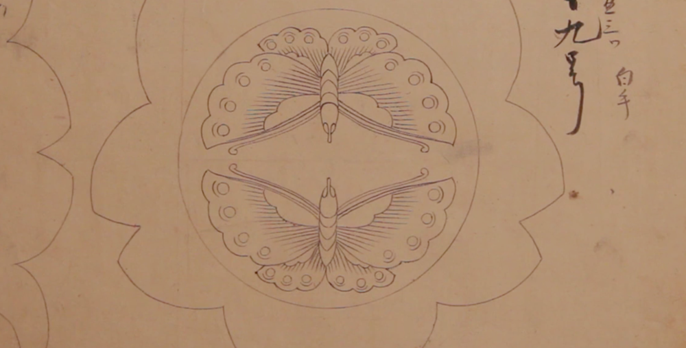 Original butterfly design from the 1800s (NHK World TV)