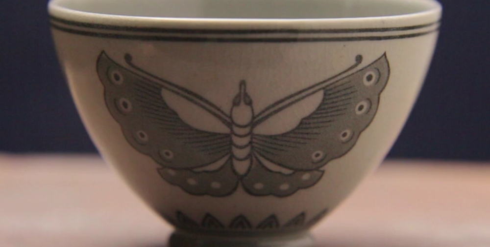 Contemporary interpretation of design on Japanese Yatsushiro Ware (NHK World TV)