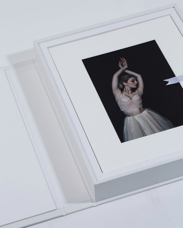 All of our Folio Boxes come with images that have been matted with 100% cotton, archival quality mats.