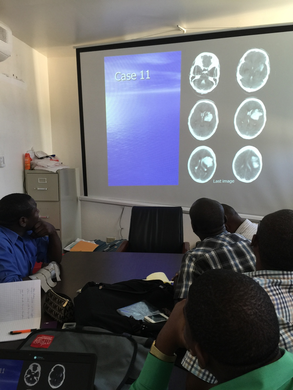 Residents taking cases in Neuro Conference