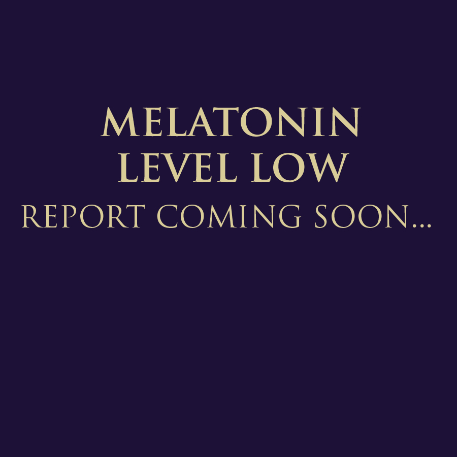 MELATONIN LEVEL LOW