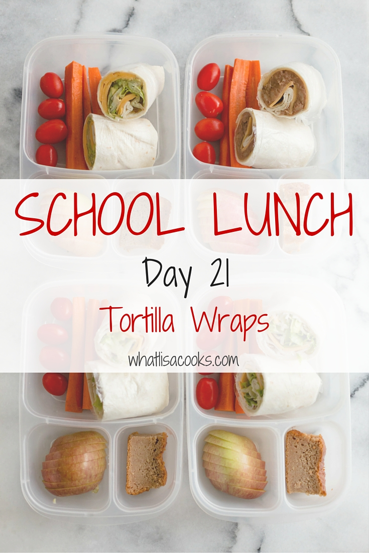 school lunch - tortilla wraps | whatlisacooks.com